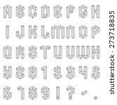 full set of isometric alphabet... | Shutterstock .eps vector #273718835
