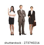 team leader stands with... | Shutterstock . vector #273740216