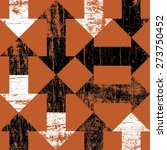 grunge arrows on orange...   Shutterstock .eps vector #273750452