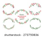 vector watercolor frames.... | Shutterstock .eps vector #273750836