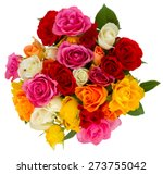 Bouquet Of Pink  Yellow  Orang...