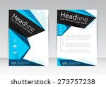 vector design for cover report... | Shutterstock .eps vector #273757238