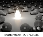3d. light bulb  inspiration ... | Shutterstock . vector #273761036