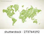 image of a vector world map | Shutterstock .eps vector #273764192