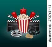 filmstrip  reel  film clapper...   Shutterstock .eps vector #273769445