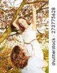 blueten young couple romantic... | Shutterstock . vector #273775628