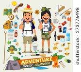 couple  adventure character... | Shutterstock .eps vector #273776498