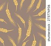 seamless vector wheat ears... | Shutterstock .eps vector #273776936