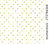 seamless pattern with gold... | Shutterstock .eps vector #273786368