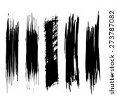 vector set of grunge brush... | Shutterstock .eps vector #273787082