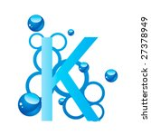 letter from a water style... | Shutterstock .eps vector #27378949