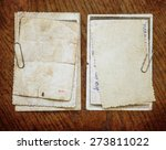 vintage background with old... | Shutterstock . vector #273811022