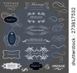 set of calligraphic elements... | Shutterstock .eps vector #273817532