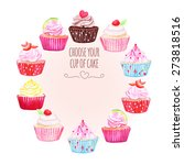 Colorful Cupcakes Vector Desig...