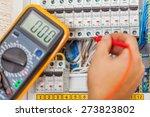 electrician  technician ... | Shutterstock . vector #273823802