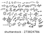 vector hand drawn arrows set... | Shutterstock .eps vector #273824786