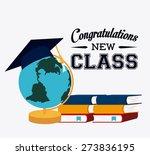 graduation design over white...   Shutterstock .eps vector #273836195