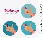 make up design over white... | Shutterstock .eps vector #273836996