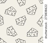cheese doodle seamless pattern... | Shutterstock .eps vector #273838622
