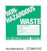 non hazardous waste label... | Shutterstock . vector #27384742