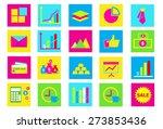 finance icon set | Shutterstock .eps vector #273853436