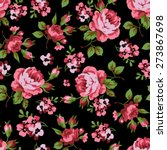 seamless floral pattern with of ... | Shutterstock .eps vector #273867698