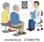 doctor talking with his patient ... | Shutterstock .eps vector #273884798
