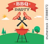 invitation card on the barbecue.... | Shutterstock .eps vector #273888572