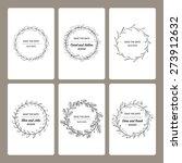 set of invitation templates...   Shutterstock .eps vector #273912632
