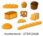 fresh bakery products in...   Shutterstock .eps vector #273912668