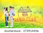 side view of parents giving...   Shutterstock . vector #273914456