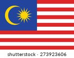 malaysia flag | Shutterstock .eps vector #273923606