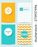 set of creative summer cards....   Shutterstock .eps vector #273937496