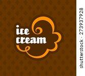 ice cream label | Shutterstock .eps vector #273937928