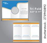 tri fold brochure vector design | Shutterstock .eps vector #273943892