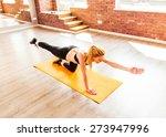 beautiful healthy fitness woman | Shutterstock . vector #273947996