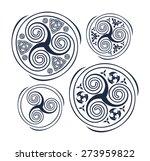 dark blue triskele symbol of... | Shutterstock .eps vector #273959822