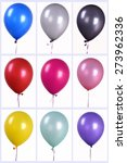 colorful balloons  | Shutterstock . vector #273962336
