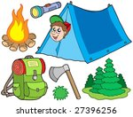 camping collection on white... | Shutterstock .eps vector #27396256