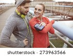 perfect playlist for morning... | Shutterstock . vector #273963566