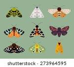 moths collection part 1   Shutterstock .eps vector #273964595