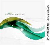 green light lines on white... | Shutterstock .eps vector #273968108