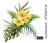 Tropical Floral Arrangement ...