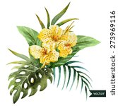 tropical floral arrangement ...   Shutterstock .eps vector #273969116