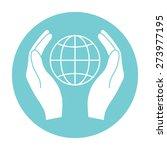 hands holding earth   Shutterstock . vector #273977195