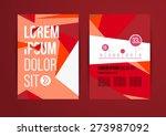 vector design brochure template ... | Shutterstock .eps vector #273987092