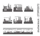 factories silhouette patterns | Shutterstock .eps vector #273992072