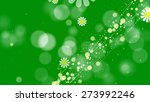 daisies on a green background ...   Shutterstock . vector #273992246
