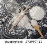 stages of making bread flour ... | Shutterstock . vector #273997412