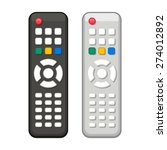 Tv Remote Control In Black And...